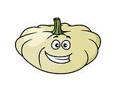 Happy cartoon pumpkin