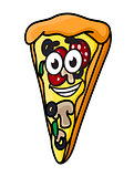 Cartoon pizza slice