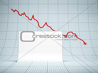 blank billboard and falling graph