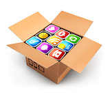 3d box with applications