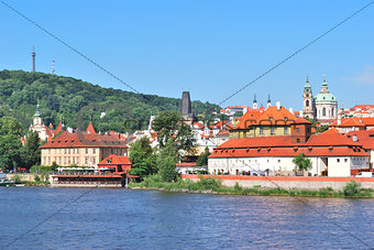 Prague. Vltava river embankment