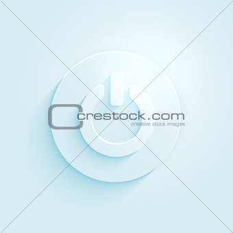 Abstract paper style power button vector icon. Switch off symbol.