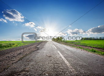 Highway and sunlight