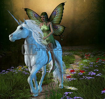 Forest Fairy and Unicorn