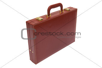 old red attache case
