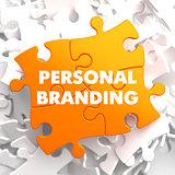 Personal Branding on Orange Puzzle.
