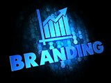Branding. Growth Concept on Digital Background.