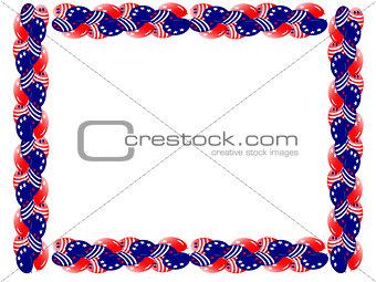 Fourth July Star Boarder Streamer