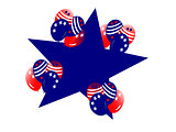 Fourth July Balloons Large Star