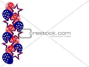 Fourth July Balloons Stars Side