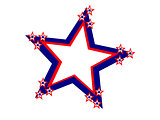 Fourth July Large Red White Blue Star