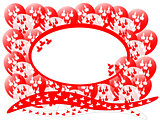 Maple Leaf Balloons Background Oval