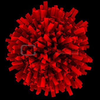 Abstract sphere red