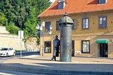 Street scene of Zagreb Croatia