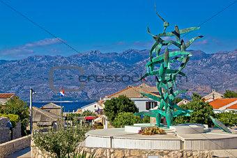Town of Razanac with Velebit background