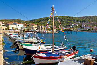 Town of Vinjerac picturesque harbor