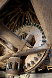 interior of windmill, Vensac, Aquitaine, France