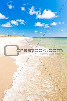 beach on Hel Peninsula, Pomerania, Poland