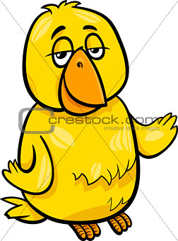 canary bird character cartoon illustration