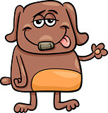 funny dog character cartoon illustration
