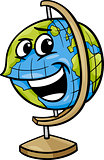 globe character cartoon illustration