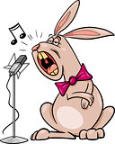 singing rabbit cartoon illustration