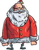 Cartoon evil Santa