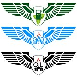 Icons petroleum and gas industry