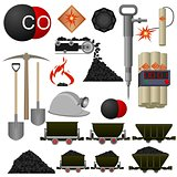 Objects coal mining industry