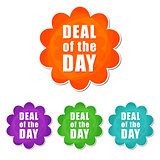 deal of the day in four colors flowers labels