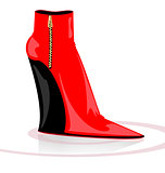 black-red boot