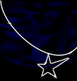 dark blue silk and jewel star