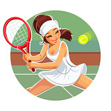 Beautiful girl play tennis