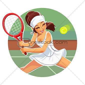 Beautiful girl play tennis