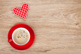 Coffee cup with toy heart gift