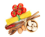 Pasta and ingredients
