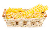 Pasta in basket