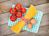 Pasta, tomatoes and eggs