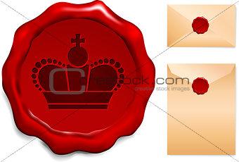 Crown on Wax Seal