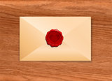 Envelope with Wax Seal Heart