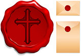 Cross on Wax Seal
