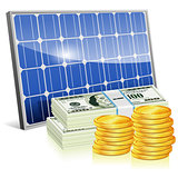 Solar Panel with Money