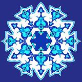 blue oriental ottoman design thirty