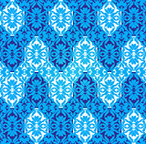 blue ottoman decorative background two