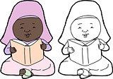 Muslim Child Reading