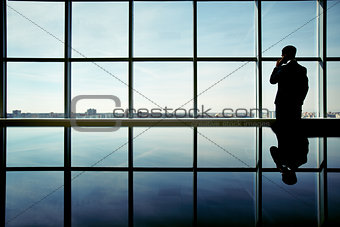 Businessman by the window