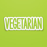 Vegetarian hand written lettering calligraphy. Vector