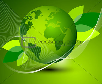Green Earth abstract composition