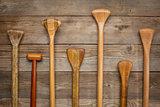 grips of canoe paddles