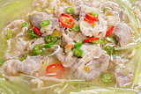 Chinese Food: Boiled beef slices with pepper